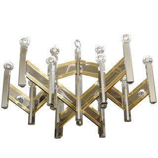 Gaetano Sciolari Mixed Metal Zig Zag Chevron Chandelier For Sale