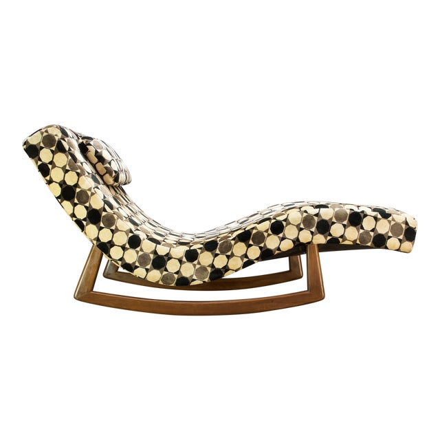 Adrian Pearsall Wave Rocker Chaise Rocking Chair For Sale