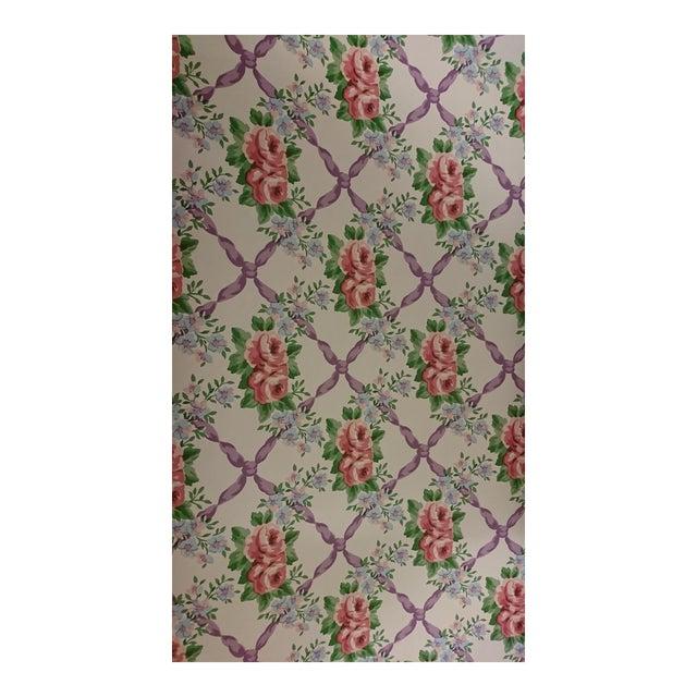 Waverly Cordelia Wallpaper - Set of 4 Rolls For Sale