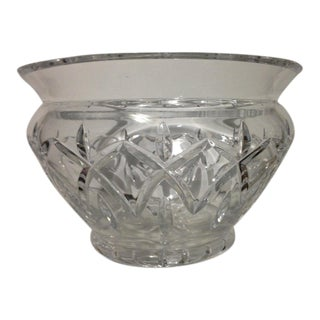 20th Century Waterford Crystal Centerpiece Bowl For Sale