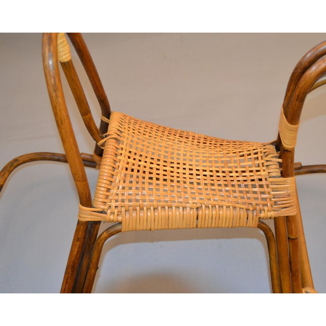 1960s Rattan and Bamboo Rocking Horse Sculpture Inspired by Franco Albini For Sale - Image 12 of 13