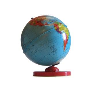 J. Chein & Co. Tin Litho World Globe W/Zodiac Base