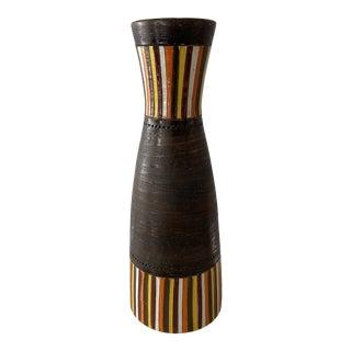 Bitossi Aldo Londi Italian Striped Vase For Sale