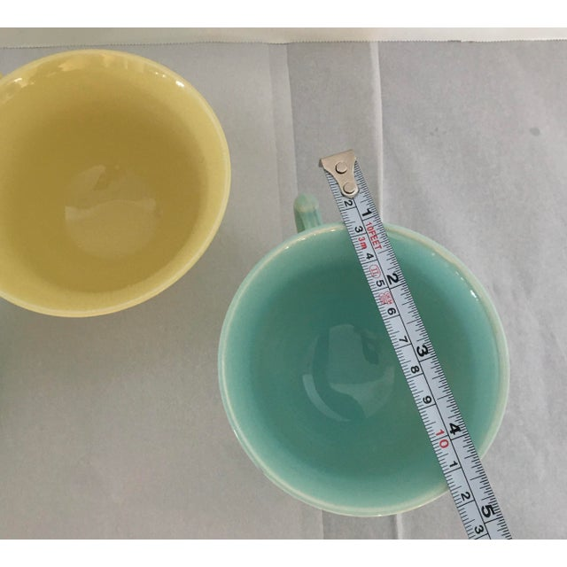 1940s 1940s Ts and T LuRay Pastels Teacups - Set of 3 For Sale - Image 5 of 11