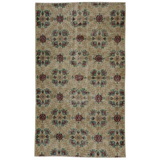 20th Century Turkish Shabby Chic Farmhouse Style Sivas Rug For Sale