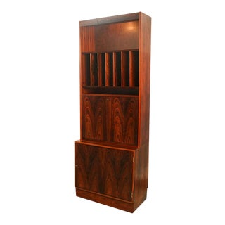 Danish Poul Hundevad Mid Century Rosewood Cabinet Hutch For Sale