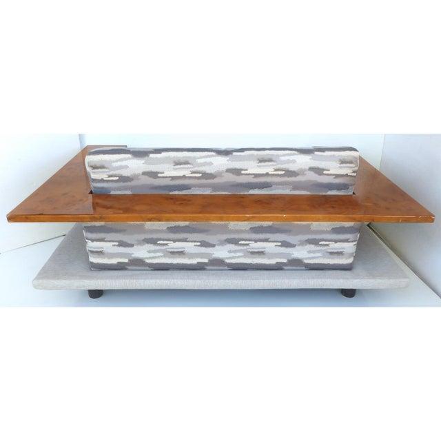 Italian Burl-Wood Upholstered Loveseat - Image 6 of 11
