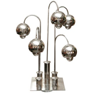1960s Modern Chrome Orb 5-Globe Table Lamp
