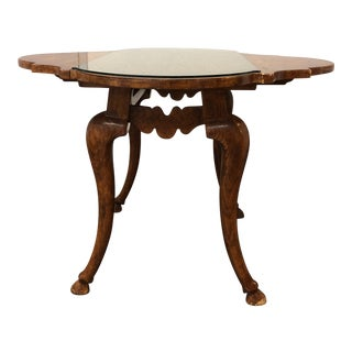 Michael Taylor Italian Wood Drop Leaf Table