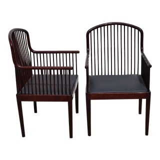 """1980s Vintage Davis Allen for Knoll """"Exeter"""" Spindle Chairs- A Pair For Sale"""