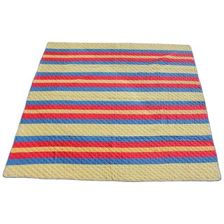 Antique Split Bars Quilt From Pennsylvania For Sale