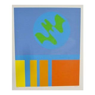 1970s Op Art French Claude Bellendy Silkscreen Serigraph For Sale