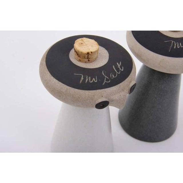 Bennington Potters Mr. Salt and Mrs. Pepper from Bennington Pottery by David Gil For Sale - Image 4 of 6