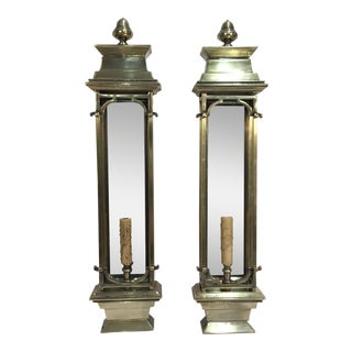 70s Brass Wall Lanterns - A Pair