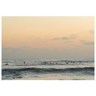 Muted Ocean Photo With SoCal Surfers For Sale