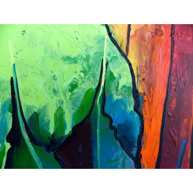 Abstract Contemporary Abstract Oil Painting by Cuban-American Artist Juan A. Navarrete For Sale - Image 3 of 9