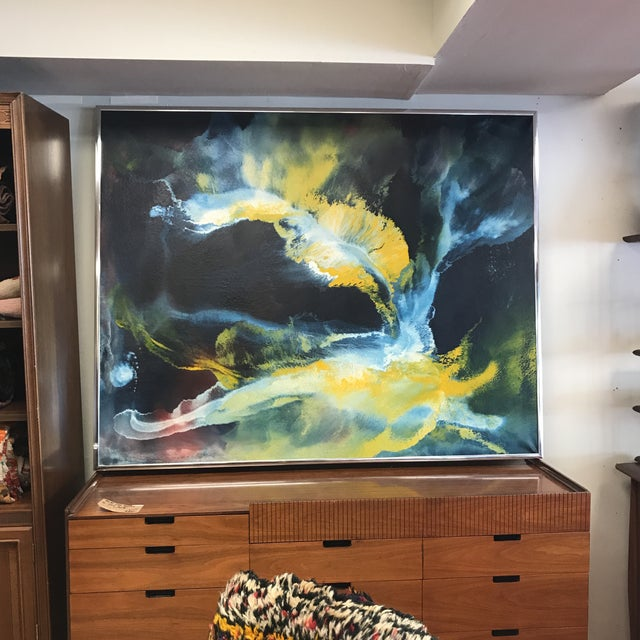 Mid-Century Abstract Expressionist Painting - Image 2 of 10