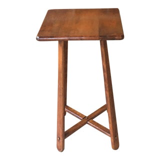 Vintage Mid-Century Hard Rock Maple Plant Stand or Small Square Table For Sale
