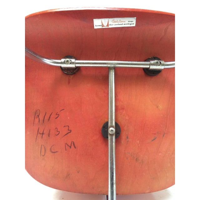 Herman Miller DCM Chair Red Aniline - Image 5 of 11