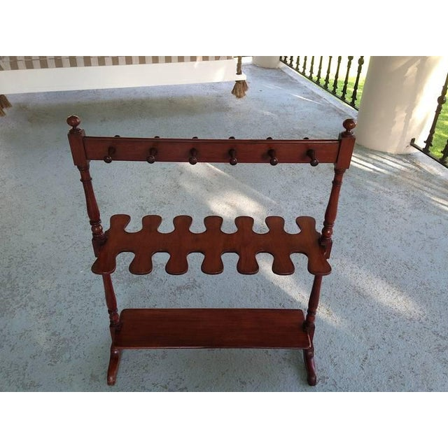 English mahogany boot rack with a beautiful patina and finish. May be used in a hallway or (elegant) mud room or in a...