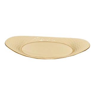 Vintage Lenox Small Basketweave Serving Platter With 24k Gold Trim For Sale