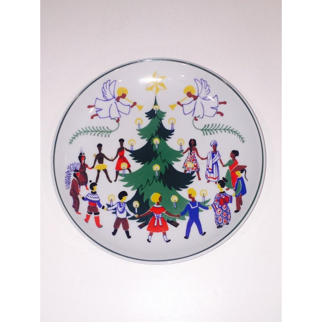 "Extremely rare ""Christmas around the world"" pattern from Lyngby Denmark - designed by the United Nations. What a beautiful..."