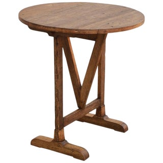Country Reclaimed Pine Tilt-Top Table For Sale