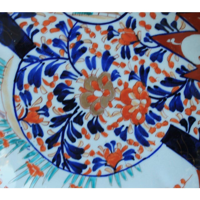 Antique 19th Century Imari Bowl Serving Dish Plate Charger Japan For Sale - Image 11 of 12