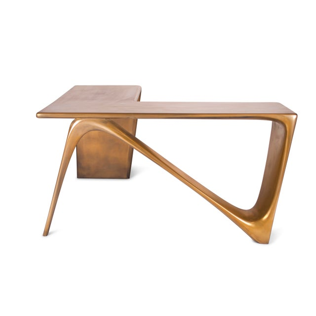 "Unique desk with dimension of 57"" L x 56.5"" W x 30"" H We are able to finish this desk with solid wood, lacquered finish,..."