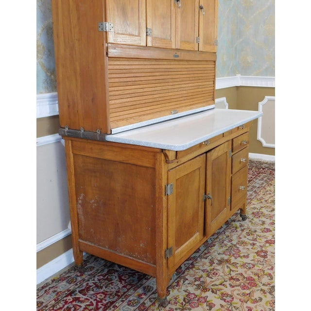 Antique Oak Sellers Indiana Hoosier Cabinet C1900 For Sale - Image 11 of 11