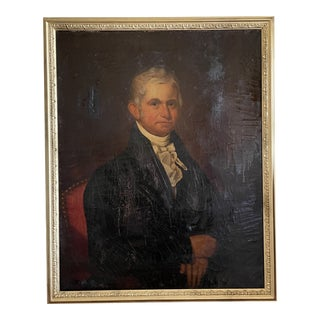 19th Century American School Portrait of William Wesley Cornell Painting, Framed For Sale