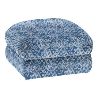LuRu Home for Casa Cosima Milan Linen Ottoman, Pavillion, Bay For Sale