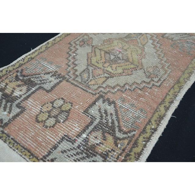 Turkish Anatolian Oushak Carpet - 1′7″ × 3′2″ For Sale - Image 5 of 6