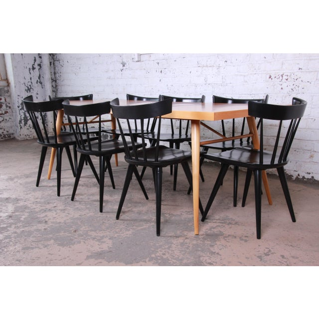 Contemporary 1950s Paul McCobb Planner Group Mid-Century Modern Dining Set For Sale - Image 3 of 13