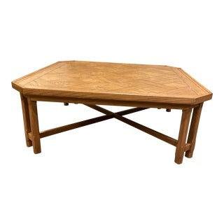 """Vintage McGuire 48"""" Coffee Table For Sale"""