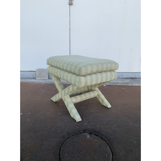 Parson's Chair With X -Base Ottoman For Sale - Image 10 of 11