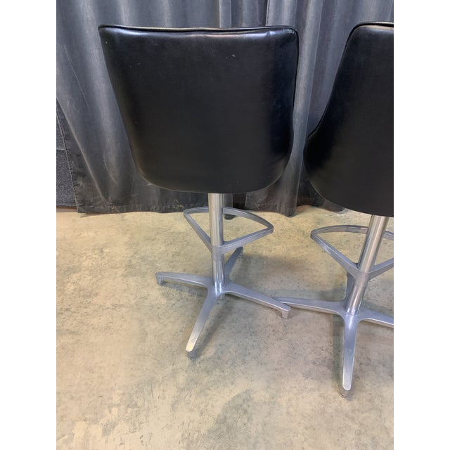 1960s Chromcraft Sculptura Swivel Stools - a Pair For Sale - Image 9 of 13