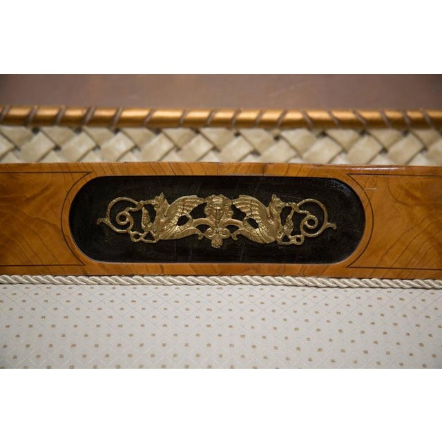 19th Century Russian Biedermeier Cherrywood Settee For Sale - Image 9 of 9