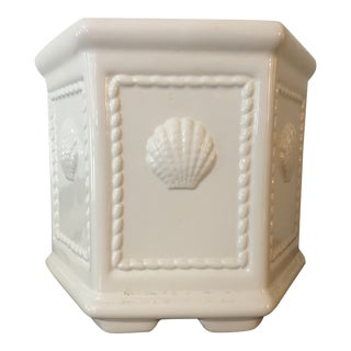 White Ceramic Planter by Jay Willfred for Andrea by Sadek For Sale