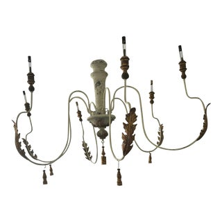 Early 20th Century Vintage Italian Candelabra Chandelier For Sale
