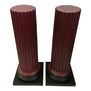 1950s Vintage Tall Classical Pedestals- A Pair For Sale