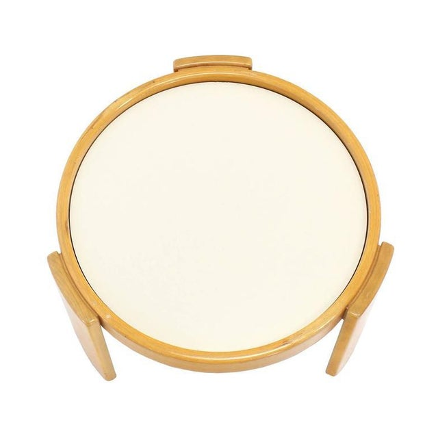Cassina Set of Four Nesting Round Tables For Sale - Image 9 of 9