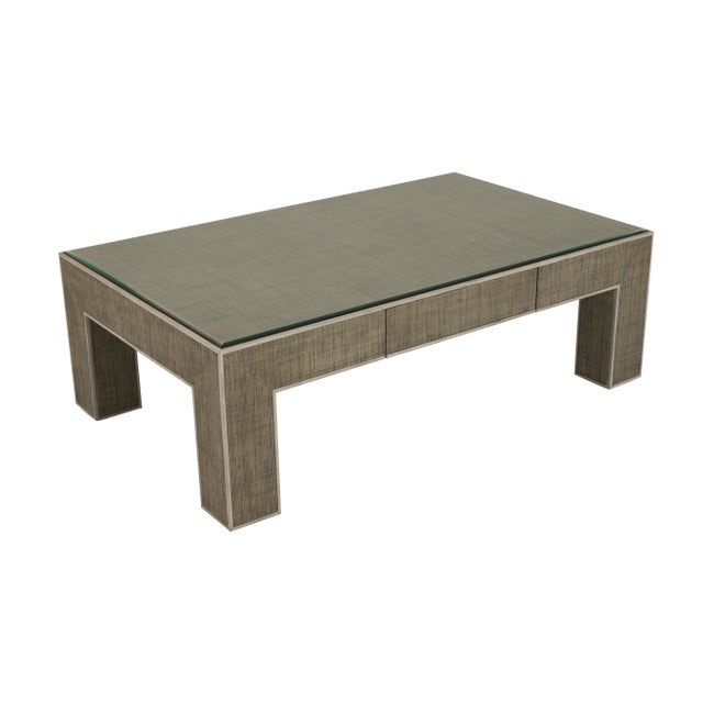 Century Furniture Newport 1 Drawer Coffee Table, French Grey and Peninsula For Sale In Charlotte - Image 6 of 6