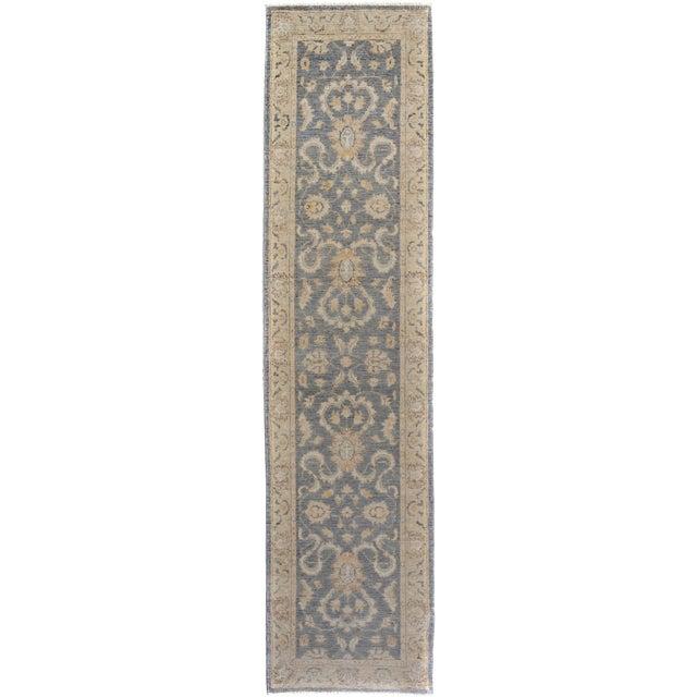 Kafkaz Peshawar Genaro Gray/Tan Wool Rug - 2'6 X 9'11 For Sale