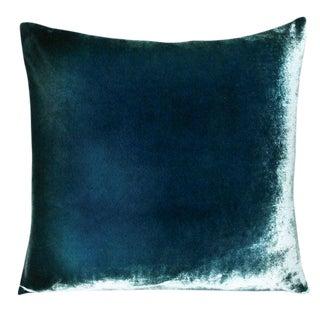 Shark Blue Ombre Velvet Pillow