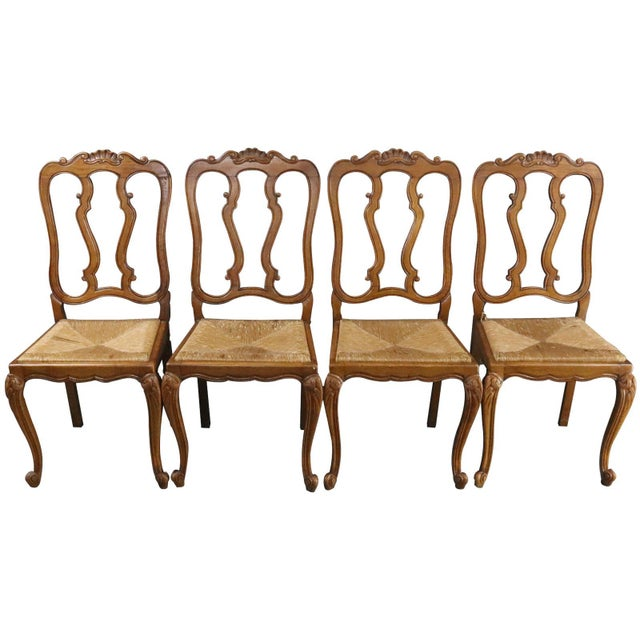 Dining Chairs Louis XV Rococo Vintage French 1950 - Set of 6 For Sale - Image 10 of 11