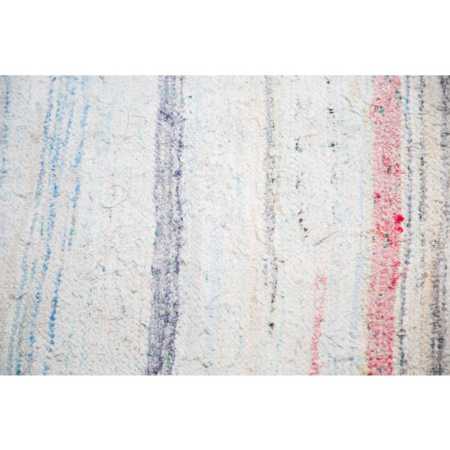 "Vintage Handwoven Rag Rug - 6'7"" x 10'10"" - Image 3 of 8"