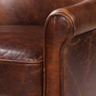 Modern Leather Swivel Club Chair Preview