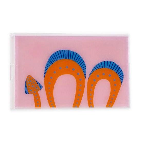 These acrylic trays from Nicolette Mayer features artwork by Willa Heart for the Chairish Print Shop.This piece can be...
