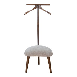 Mid-Century Valet Chair in Walnut & Lambswool For Sale